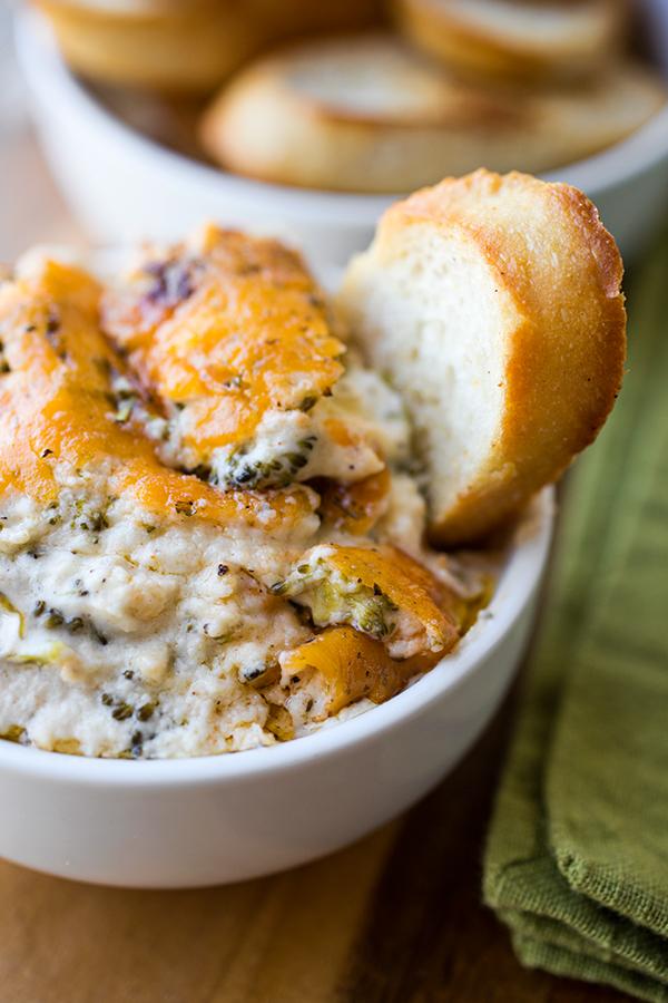 Broccoli Cheddar Parmesan Dip