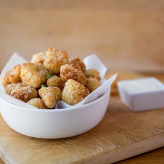 "A Cozy After-School Special: Crispy Parmesan-Cauliflower ""Poppers"", The Perfect Veggie To Pop"
