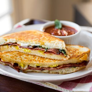 A Cozy Sandwich: Grilled Cheese Italiano, Deliciously Melted Together To Form The Perfect Bite