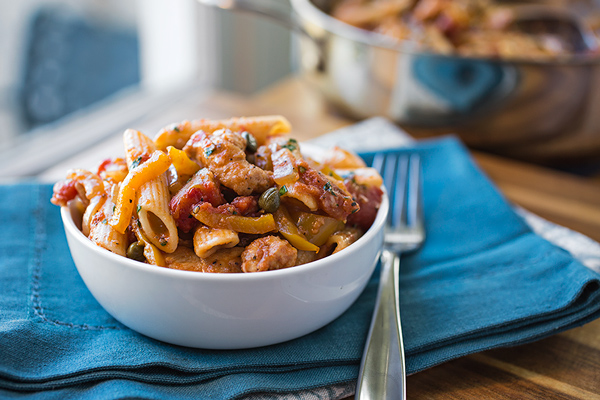 """A Cozy One-Pan Wonder: Chicken """"Picca-Tore"""" Pasta, For When You Can't Pick Between Two Faves post image"""