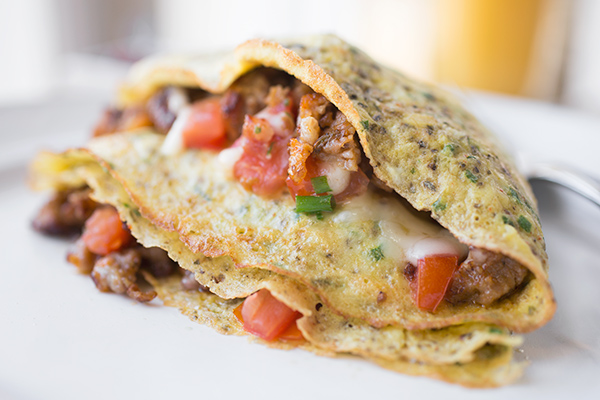 "Cheesy Egg ""Crepe"""