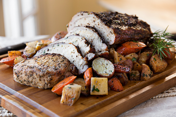 Roasted pork loin - Christmas pork roast five recipes ...