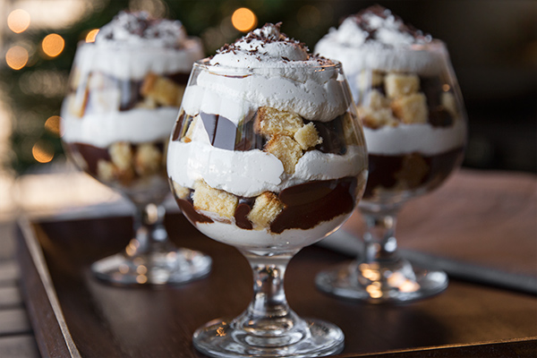 """Midnight Kiss"" Amaretto Parfait"