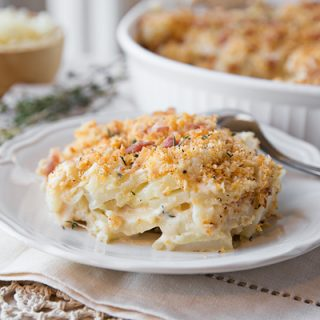 A Cozy Holiday: Cheesy Potatoes Au Gratin, and Bundling up to Embrace the Cold Outside