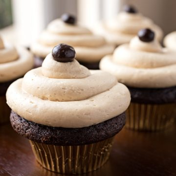 Irish Cream & Coffee Cupcakes