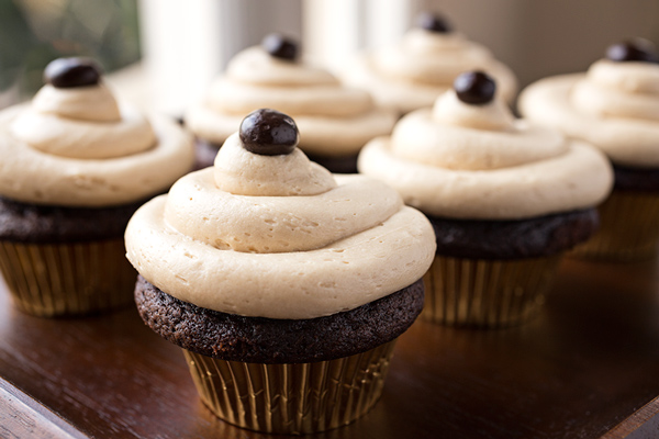 Rich and Chocolatey Irish Cream Coffee Cupcakes, and Celebrating the Cozy Apron's Second Birthday