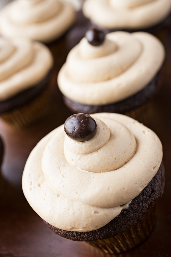 Irish Cream & Coffee Cupcakes