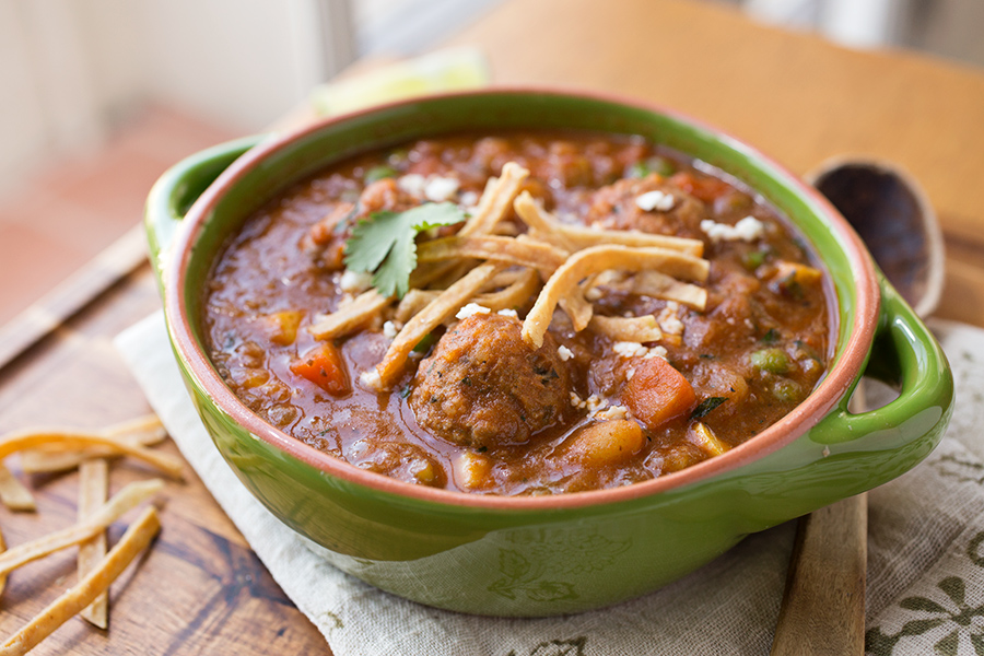 Sweet, Simple Bonding Over Spicy Albondigas Stew post image