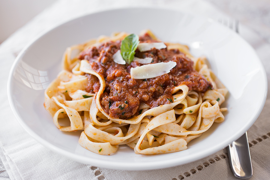 Fettucini in Sausage Bolognese, And The Importance Of Being Both A Hungry Guest & A Good Host post image