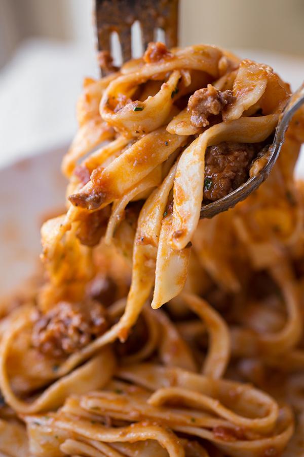 Fettucini in Sausage Bolognese