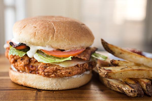 Spicy & Crispy Chicken Caesar Club, For When I Want My Fast Food Slowed Down A Bit