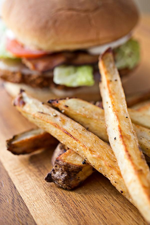 Sea Salt Baked French Fries | thecozyapron.com