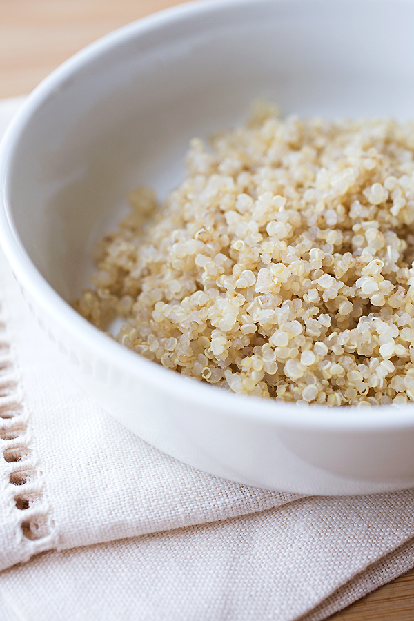 Quinoa for Chicken Soup with Spring Veggies | thecozyapron.com