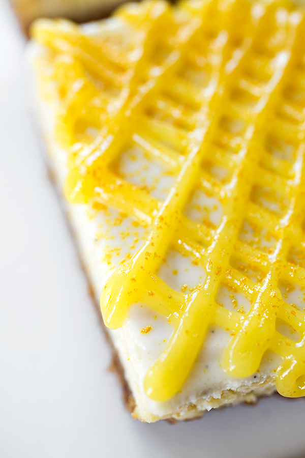 "Lemony ""Sunshine"" Cheesecake Bars"