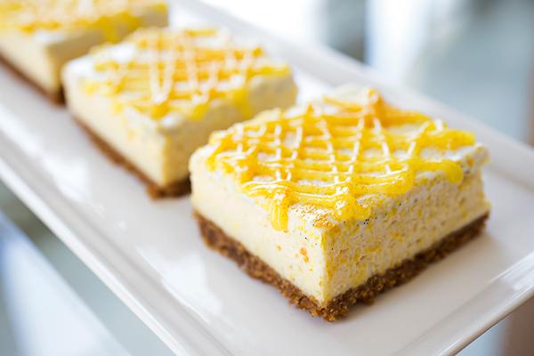 "Lemony ""Sunshine"" Cheesecake Bars"