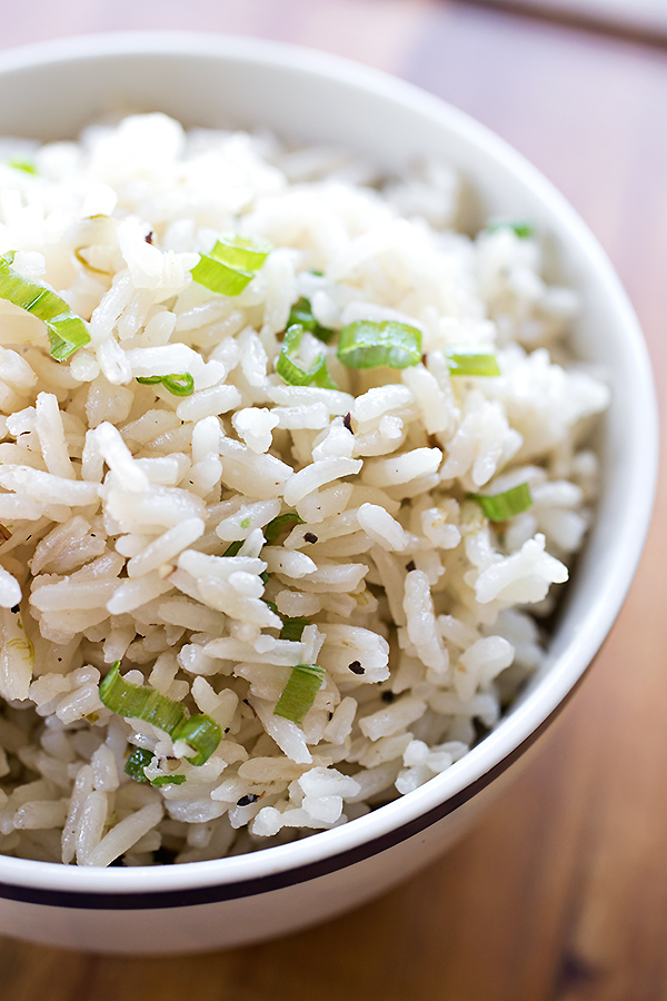 Toasted-Green Onion Rice