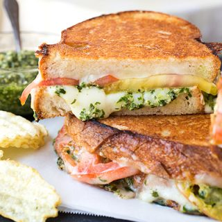 Tomato & Pesto Grilled Cheese, Crazy-Good Seasonal Food