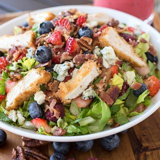 Summer Berry & Crispy Chicken Chopped Salad, Berry-liciously Delicious