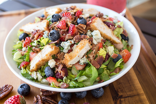 Summer Berry and Crispy Chicken Chopped Salad