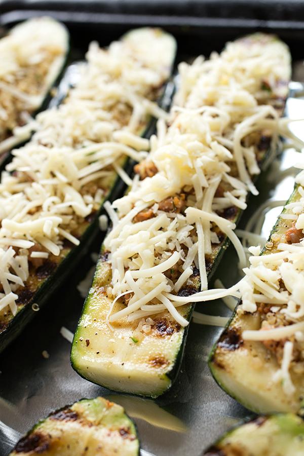 Cheesy Italian Zucchini Boats | thecozyapron.com