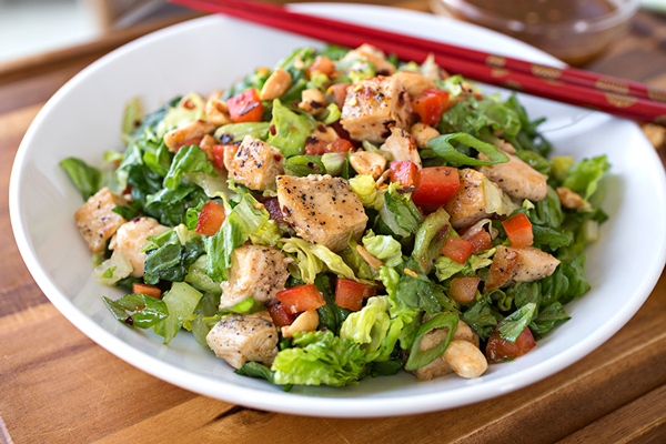 Kung Pao Chicken Chopped Salad; Because, Why The Heck Not?