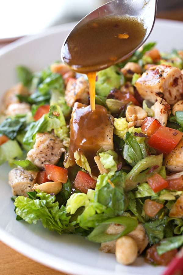 Kung Pao Chicken Salad | thecozyapron.com