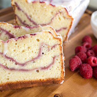 Raspberry Swirl & Greek Yogurt Cake, and a Woman's Attempt At Relaxation