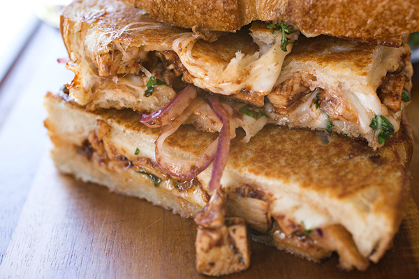 Bbq Chicken Pizza Grilled Cheese