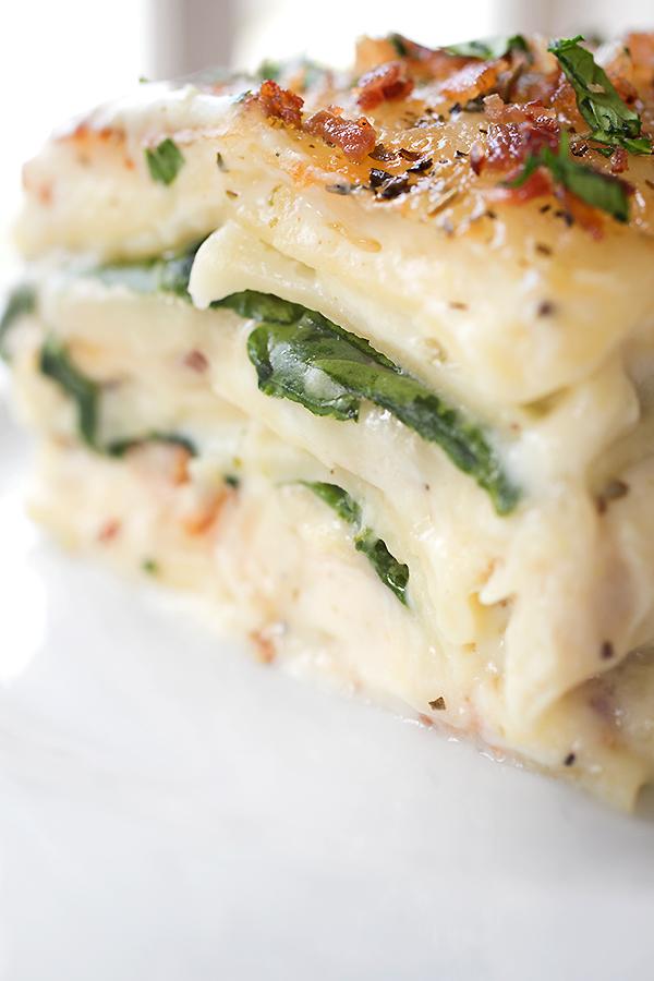 Chicken Florentine Lasagna | thecozyapron.com