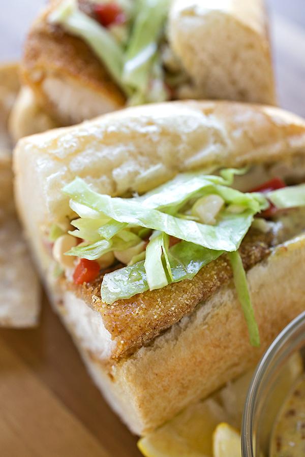 Spicy and Crispy Fish Sandwich   thecozyapron.com