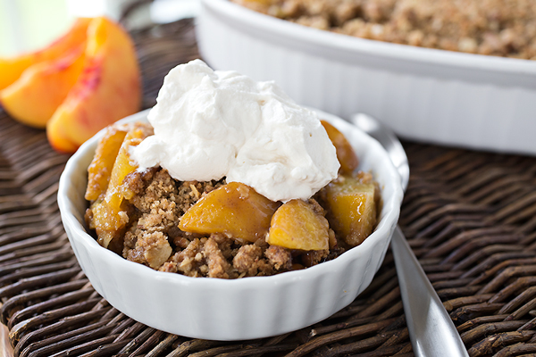 Warm Vanilla-Bourbon Peach Crisp, and Luxuriating in the Sweet Taste of this Season of Life post image