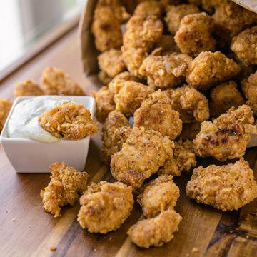 Popcorn Chicken | thecozyapron.com