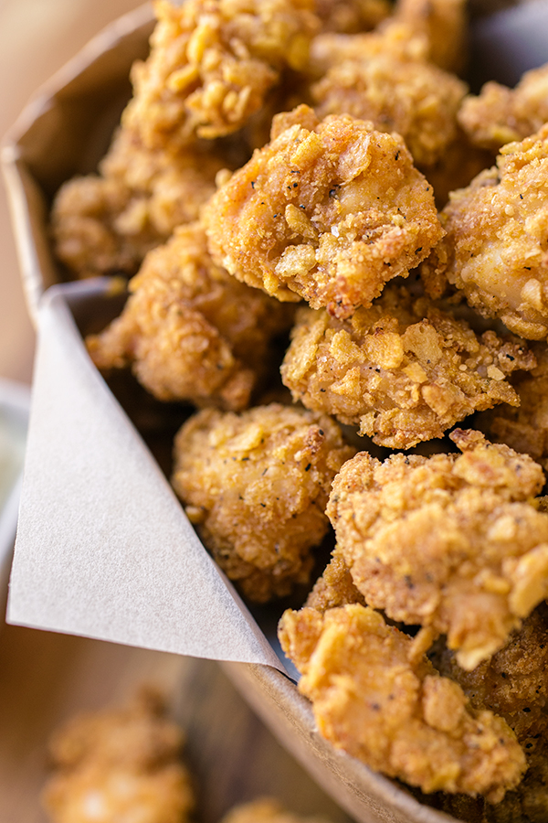 "... Baked Garlic ""Popcorn"" Chicken, a Different Type of Popcorn to Pop"
