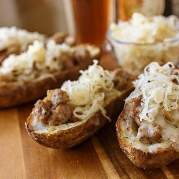 Oktoberfest Potato Skins | thecozyapron.com