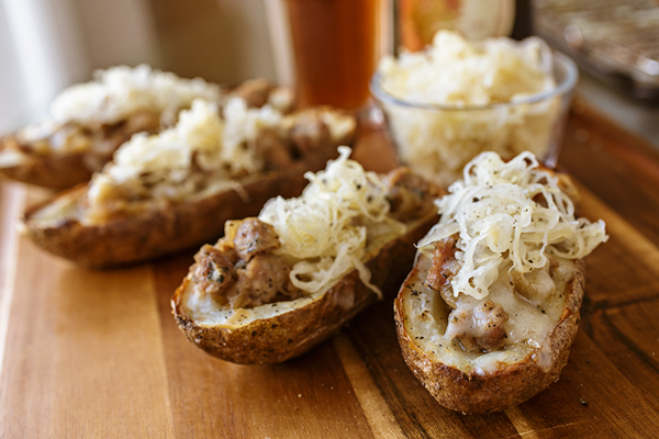 Oktoberfest Potato Skins, and Finding Good Reasons to Celebrate a Little post image