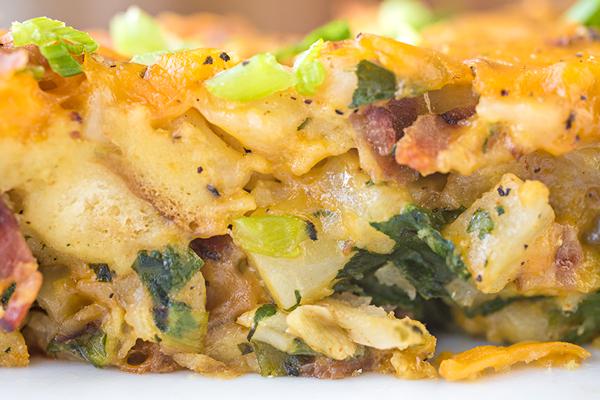 Cheesy Breakfast Bake | thecozyapron.com