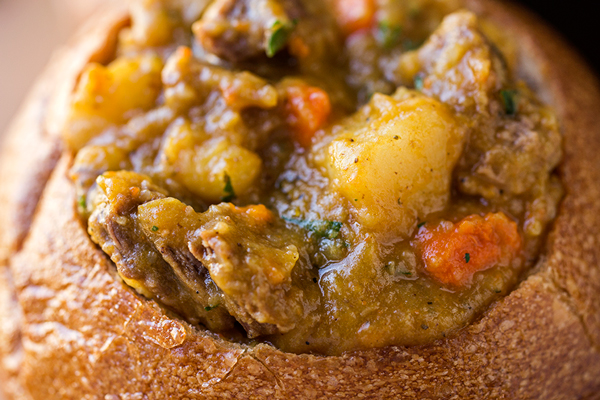 Fall Harvest Pumpkin and Beef Stew | thecozyapron.com