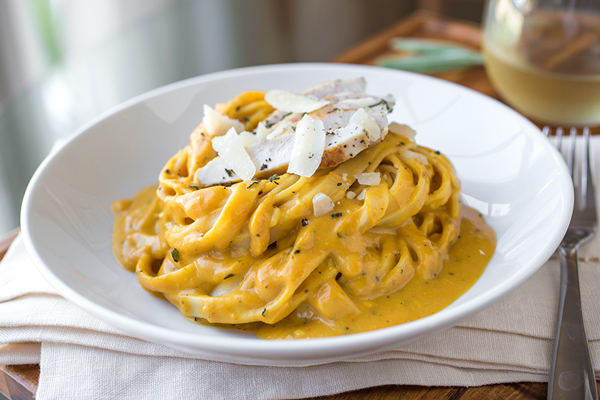 Pumpkin Cream Sauce Fettuccine, & Keeping Things Together When They Want To Come Apart post image
