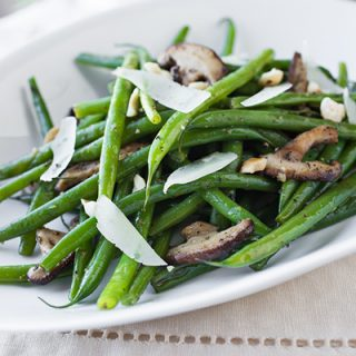 Buttery French Green Beans with Garlic-Sauteed Mushrooms, a Simple & Crisp Take On Things