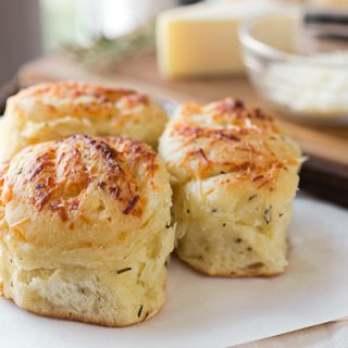 Garlic-Rosemary Pull-Apart Dinner Rolls with Asiago Cheese, and Indulging with Joy and Abandon