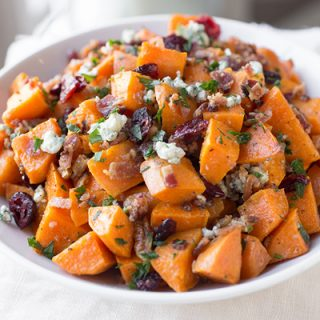 Warm Roasted Sweet Potato Salad, and Remembering all the Things to be Thankful For