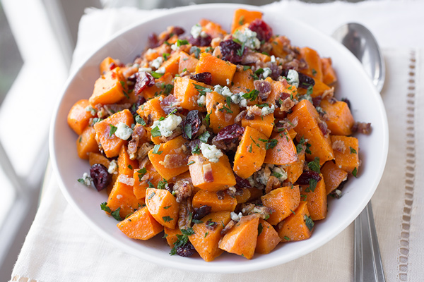 Roasted Sweet Potato Salad With Pecans And Green Onion