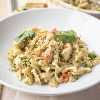"Creamy Chicken Noodle Casserole, Just a Tiny Little Tweak from Being ""Soup"""