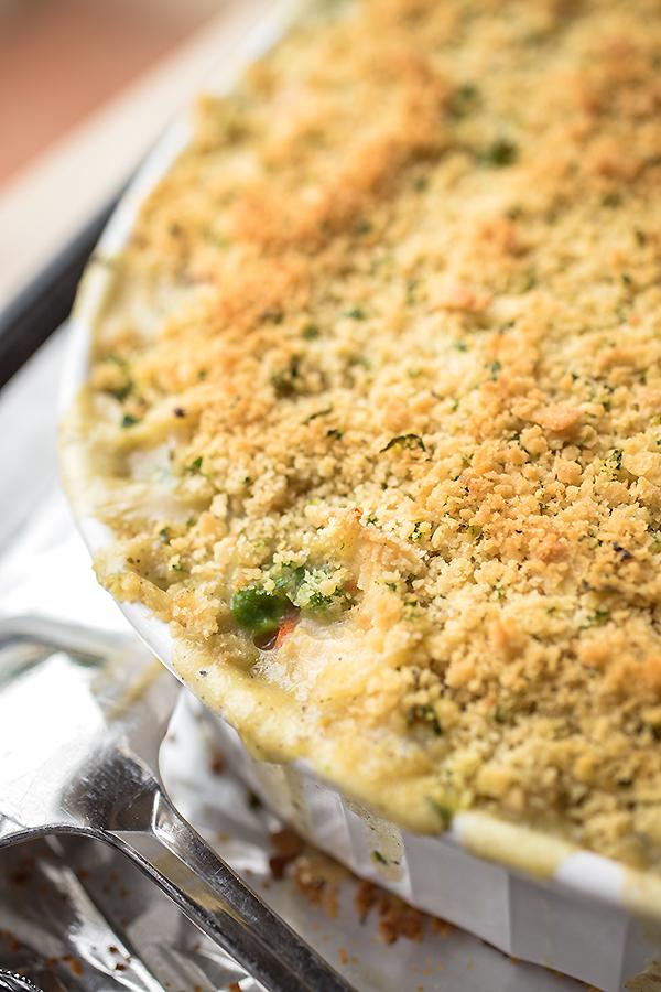 Creamy Chicken Noodle Casserole   thecozyapron.com