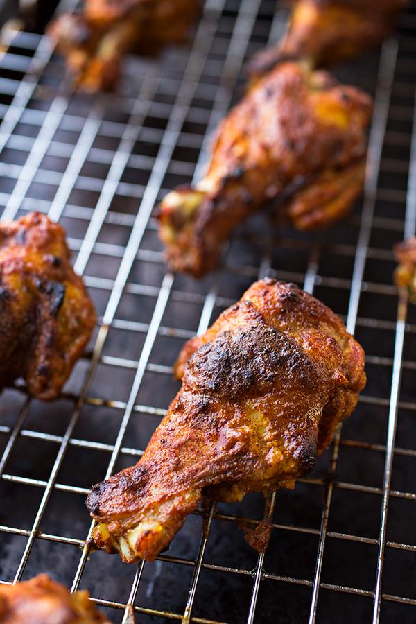 Crispy Baked Chicken Wings Tandoori Style | thecozyapron.com