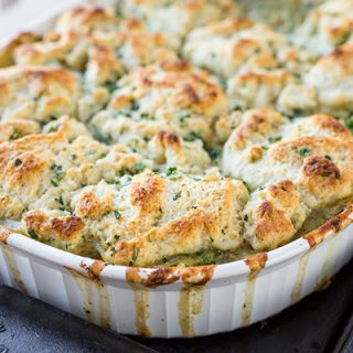 Roasted Chicken & Winter Veggie Pot Pie Casserole, All Tucked In Under a Cozy Layer of Love
