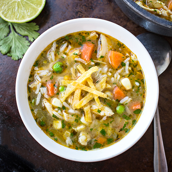 Zesty Chicken & Rice Soup, and Finding Pleasure and Gratitude at the Bottom of an Empty Bowl post image