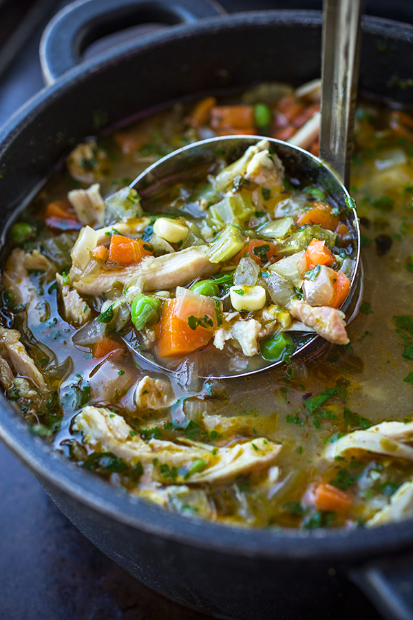 Zesty Chicken and Rice Soup | thecozyapron.com