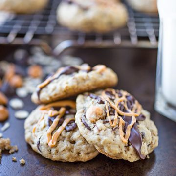 Chocolate and Butterscotch Chip Oatmeal Cookies | thecozyapron.com