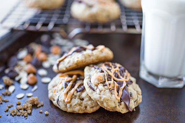 Chocolate & Butterscotch Chip Oatmeal Cookies, for When Finding Joy in the Small Stuff is a Good Start